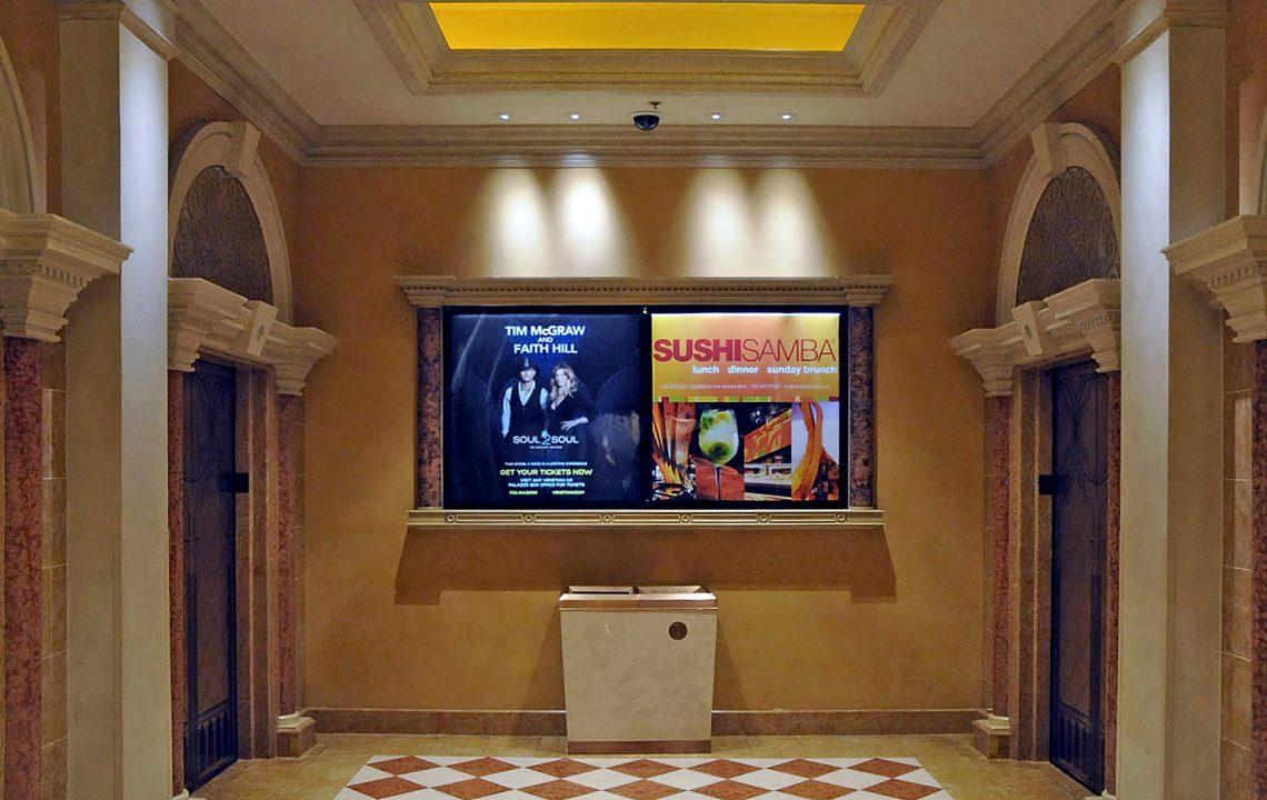 Ad Art Sign Co., AdArt, Full Service Signage, LED Lighting, Digital Signage,Hospitality, LCD Display, Interior Signage Display, the Venetian Resort & Casino, Las Vegas, NV